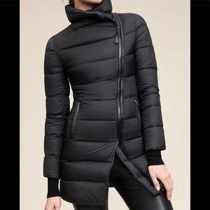 MACKAGE YARA Down & leather trim coat M damaged